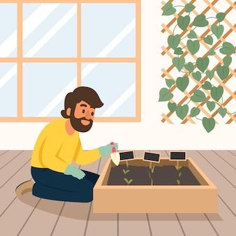Concetto di giardinaggio a casa
