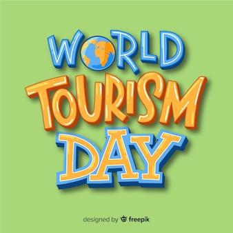 Concetto di giornata del turismo con scritte
