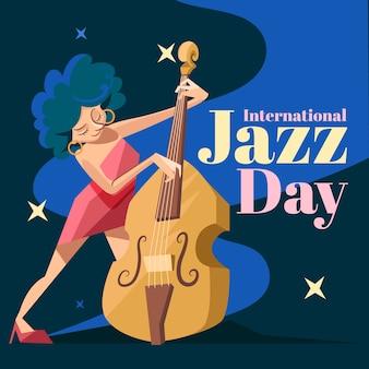 Concetto di giornata internazionale del jazz design piatto