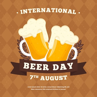 Concetto di giornata internazionale della birra