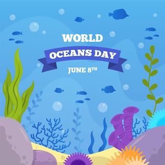 Concetto di giornata mondiale degli oceani