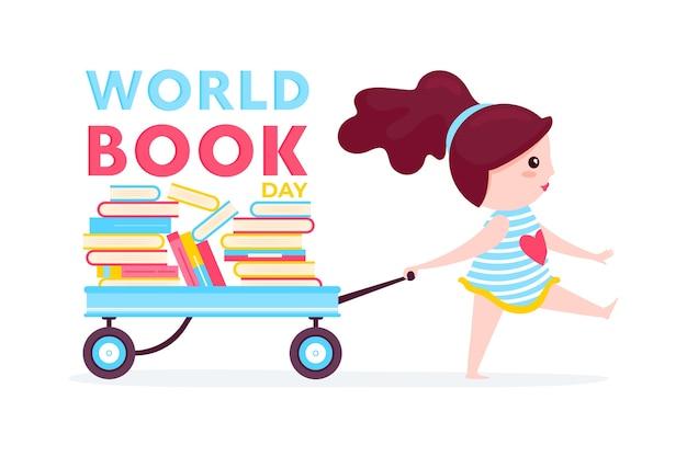 Concetto di giornata mondiale del libro del mondo