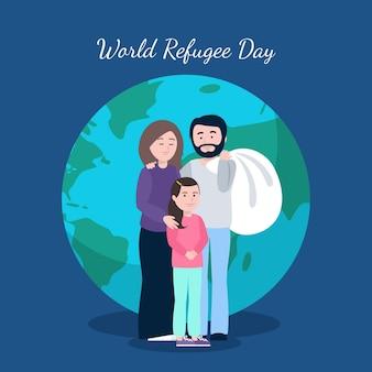 Concetto di giornata mondiale del rifugiato