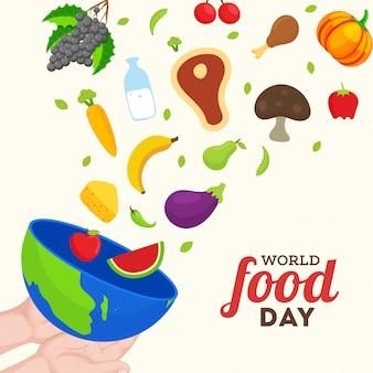 Concetto di giornata mondiale dell'alimentazione.