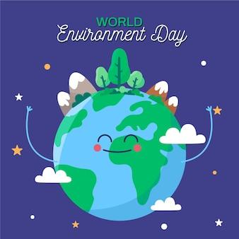 Concetto di giornata mondiale dell'ambiente design piatto