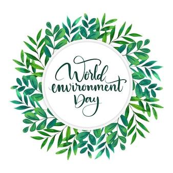 Concetto di giornata mondiale dell'ambiente