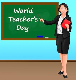 Concetto di giornata mondiale dell'insegnante