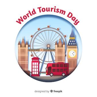 Concetto di giornata turistica con punti di riferimento