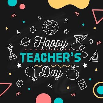 Concetto di giorno degli insegnanti disegnati a mano