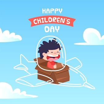 Concetto di giorno dei bambini nella progettazione piana