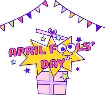Concetto di giorno dei pesci d'aprile per la celebrazione