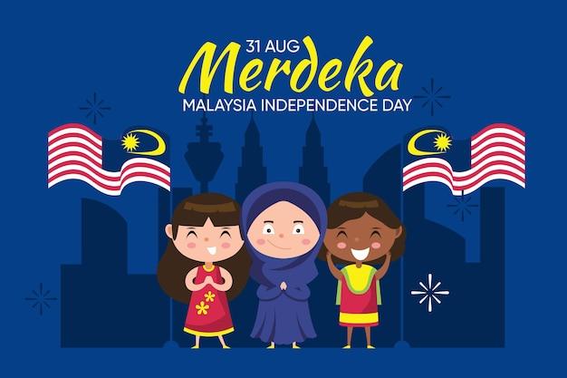 Concetto di giorno della malesia