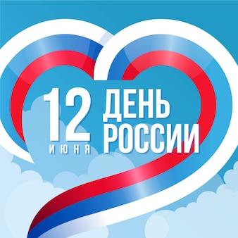 Concetto di giorno della russia nella progettazione piana