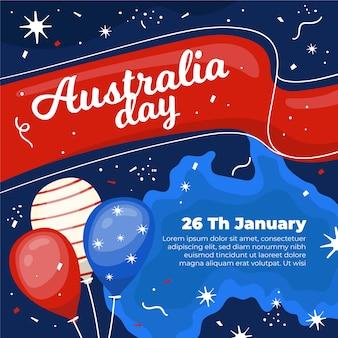 Concetto di giorno di australia disegnata a mano