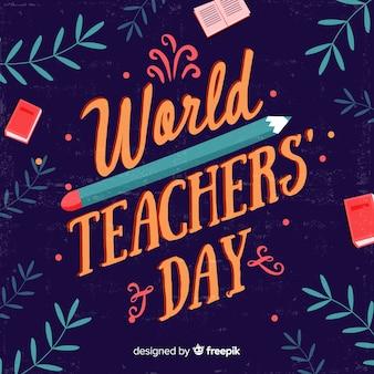 Concetto di giorno di insegnanti con scritte