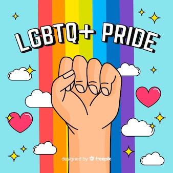 Concetto di giorno di orgoglio con arcobaleno