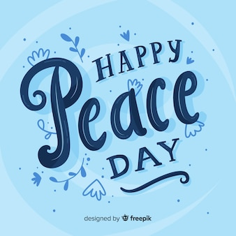 Concetto di giorno di pace con scritte