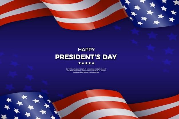 Concetto di giorno di presidenti con bandiera realistica