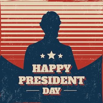 Concetto di giorno di presidenti con design vintage