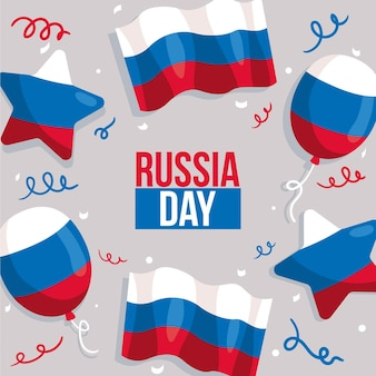 Concetto di giorno russia disegnata a mano