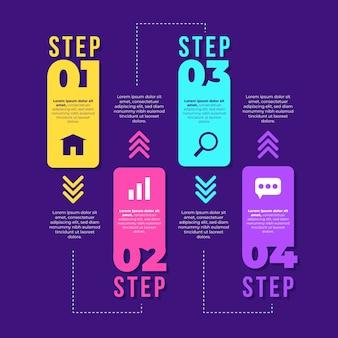 Concetto di grafico infografica passi