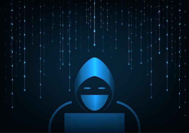 Concetto di hacker di tecnologia.