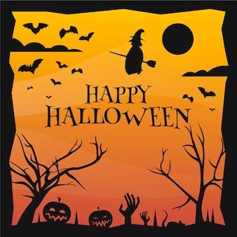 Concetto di halloween design piatto