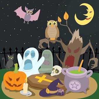Concetto di halloween felice