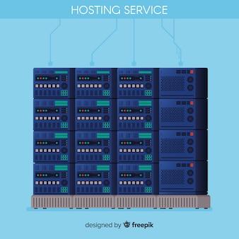 Concetto di hosting di dati moderni