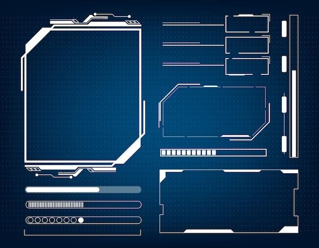 Concetto di hud dell'interfaccia futuristica di tecnologia astratta