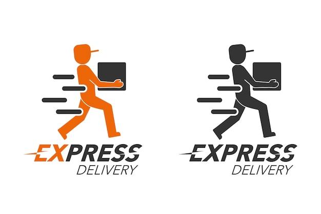 Concetto di icona di consegna espressa