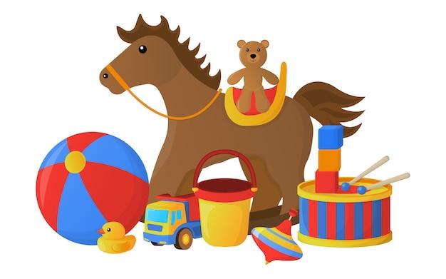 Concetto di icone giocattolo per bambini