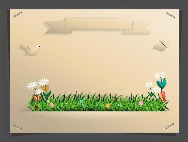 Concetto di idea banner natura, illustrazione vettoriale