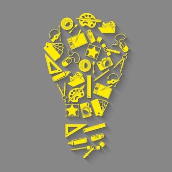 Concetto di idea di strumenti di progettazione
