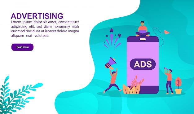 Concetto di illustrazione della pubblicità