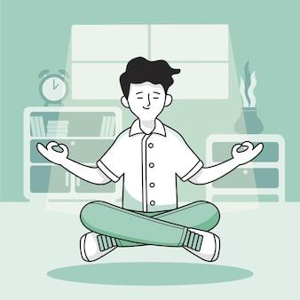 Concetto di illustrazione di meditazione
