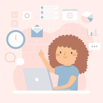 Concetto di illustrazione multitasking
