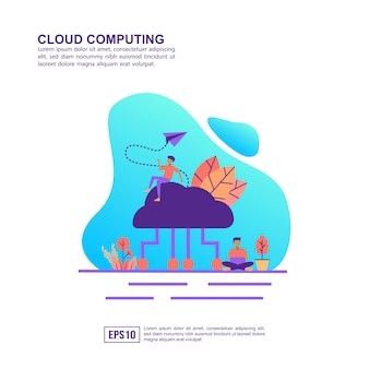 Concetto di illustrazione vettoriale di cloud computing