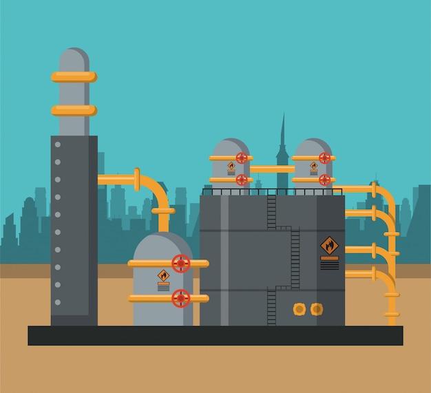 Concetto di industria petrolifera