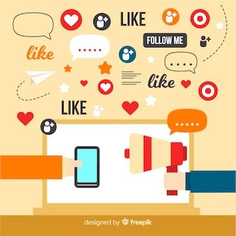 Concetto di influencer sociale