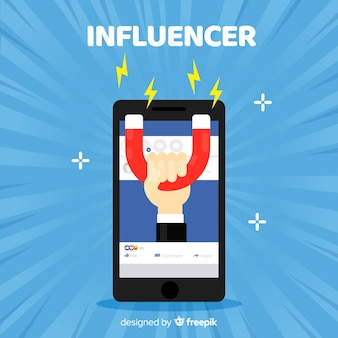 Concetto di influencer sociale