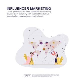 Concetto di influenza di marketing
