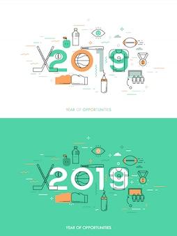 Concetto di infografica 2018 anni di opportunità