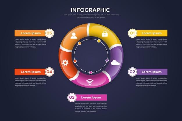 Concetto di infografica anello 3d