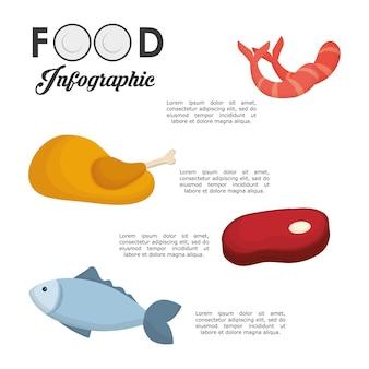 Concetto di infografica con cibo sano