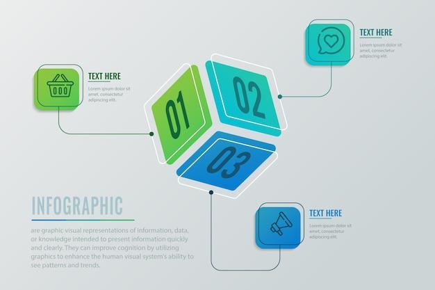 Concetto di infografica di dadi