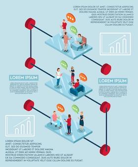 Concetto di infografica di discorso elettronico