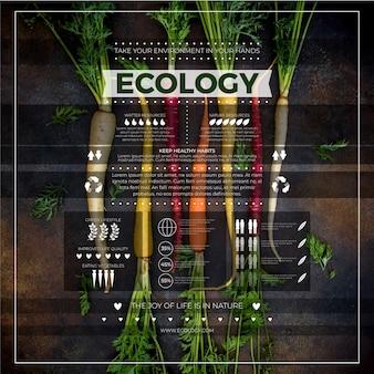 Concetto di infografica ecologia