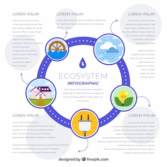 Concetto di infografica ecosistema