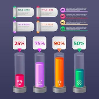 Concetto di infografica lucido 3d